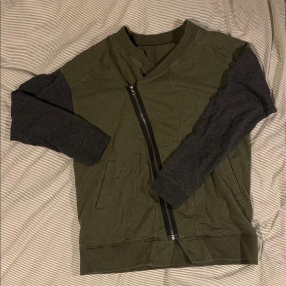 Asymmetrical Lululemon zip up